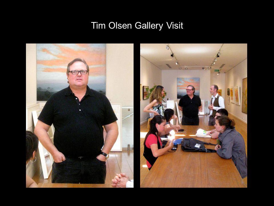 Tim Olsen Gallery Visit