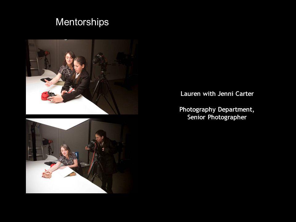 Lauren with Jenni Carter Photography Department, Senior Photographer Mentorships