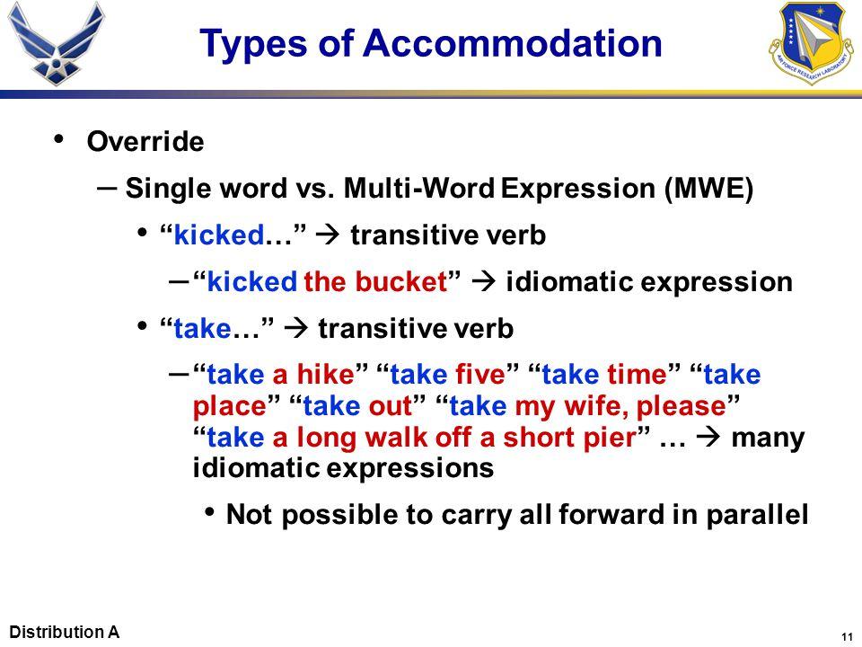 11 Override – Single word vs.