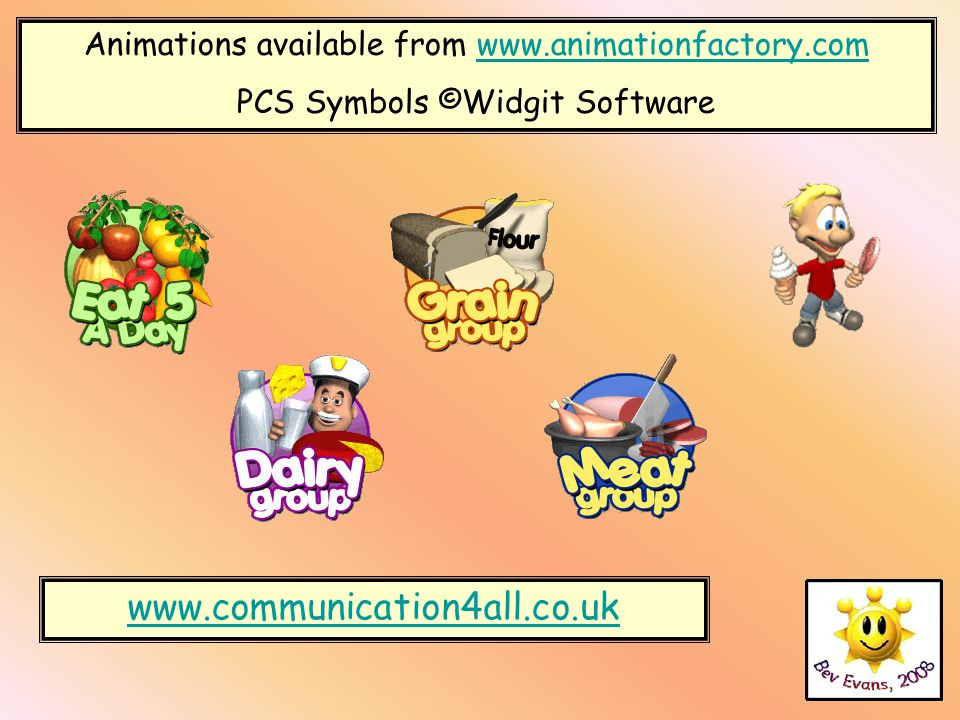 www.communication4all.co.uk Animations available from www.animationfactory.comwww.animationfactory.com PCS Symbols ©Widgit Software