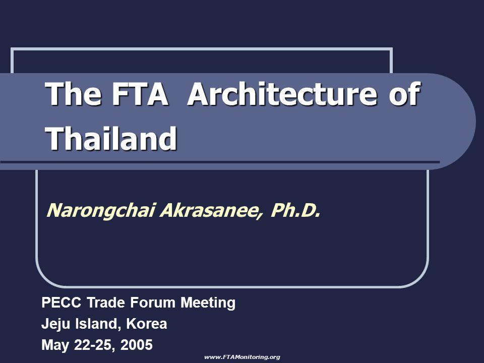 The FTA Architecture of Thailand Narongchai Akrasanee, Ph.D.