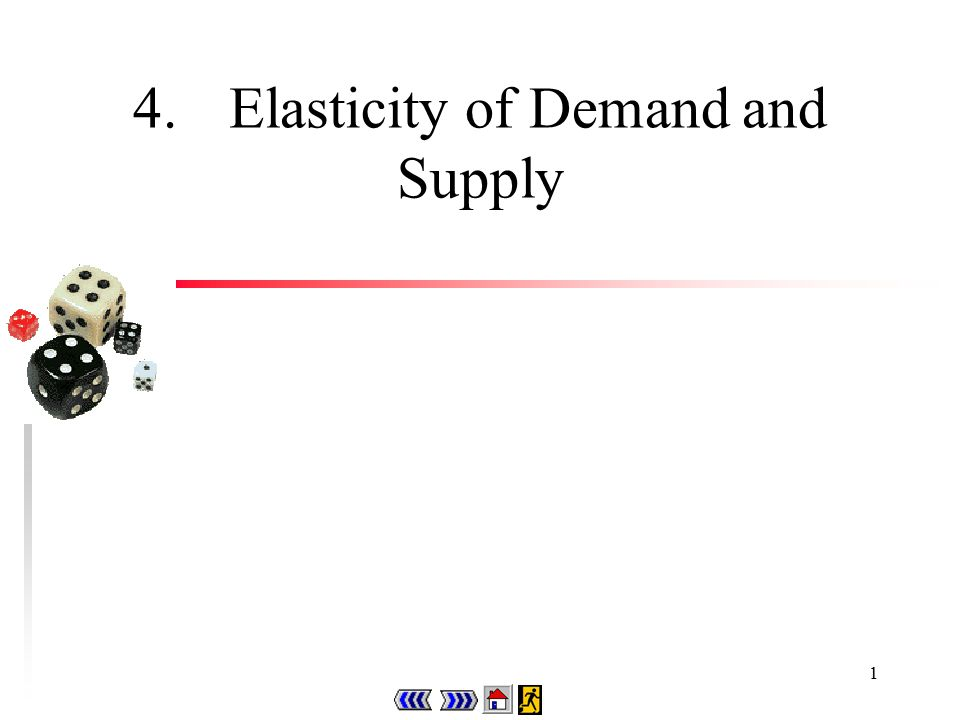 1 4.Elasticity of Demand and Supply