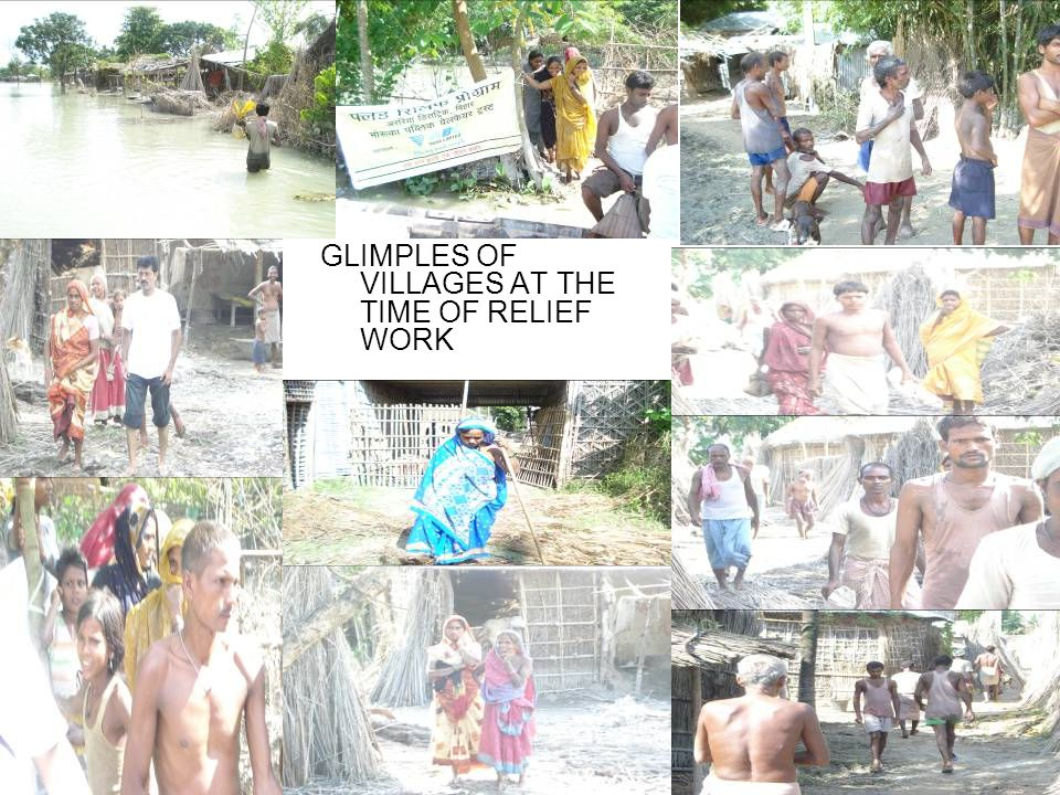 GLIMPLES OF VILLAGES AT THE TIME OF RELIEF WORK