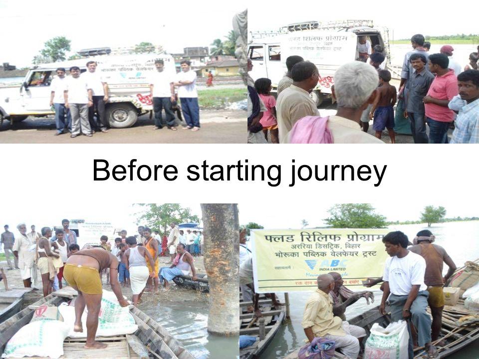 Before starting journey