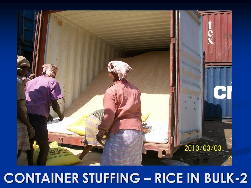 CONTAINER STUFFING – RICE IN BULK-2