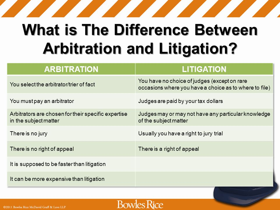 What is The Difference Between Arbitration and Litigation