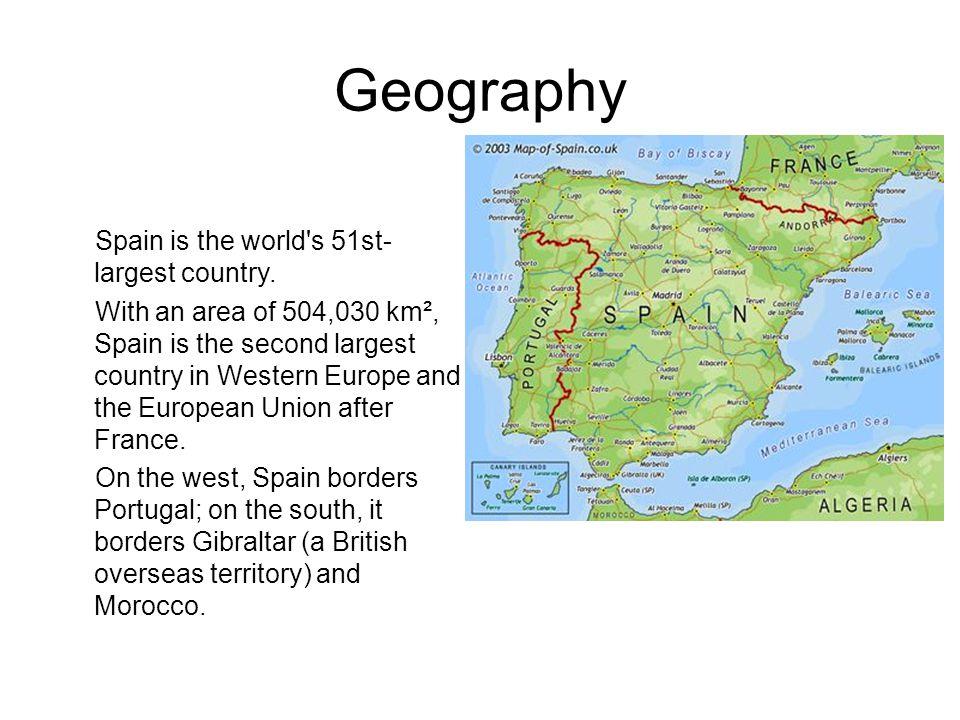 Metropolitan Areas Madrid (5.883.521 inhabitants) Barcelona (3.150.380 inhabitants) Valencia (1.810.663 inhabitants) Seville (1.438.451 inhabitants)