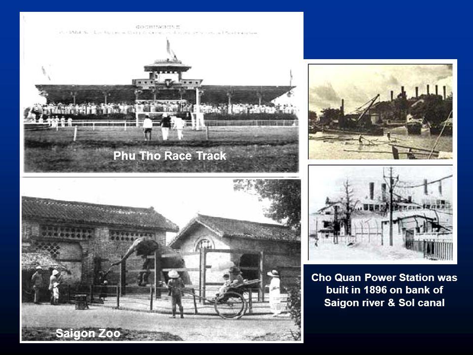 Saigon Electric Tramway Station Indochine Bank on Saigon River North bank The Saigon Cholon Tramway Station was built in 1881 The Saigon My Tho Railroad was built in 1882 Saigon Railway Office was built in 1882 Saigon My Tho Railroad was built in 1882