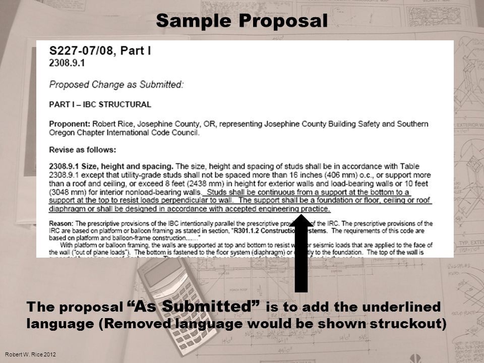Sample Proposal Robert W.