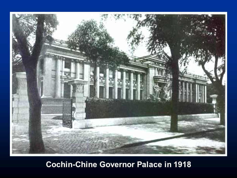 Cochin-Chine Governor Palace in 1918