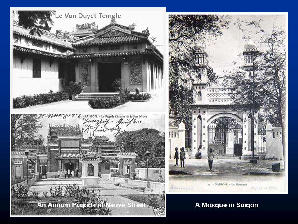 Pagoda near Cau Ong Lanh market An Annam Pagoda at Neuve Street A Mosque in Saigon Le Van Duyet Temple