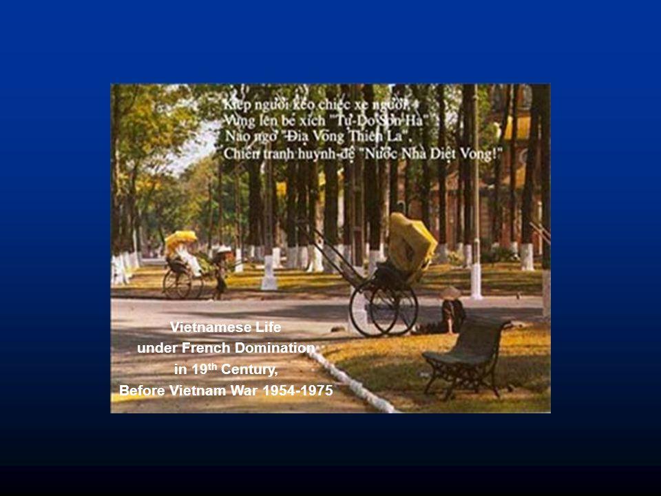 Vietnamese Life under French Domination in 19 th Century, Before Vietnam War 1954-1975