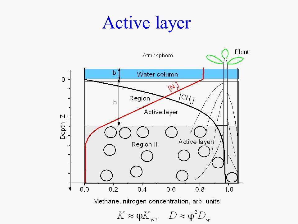 Bubbles composition on depth