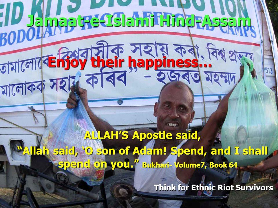 Jamaat-e-Islami Hind-Assam Think for Ethnic Riot Survivors Survival Kit Distribution Survival Kit -- Only SAR/AED 100 or US $ 25 Survival Kit -- Only SAR/AED 100 or US $ 25