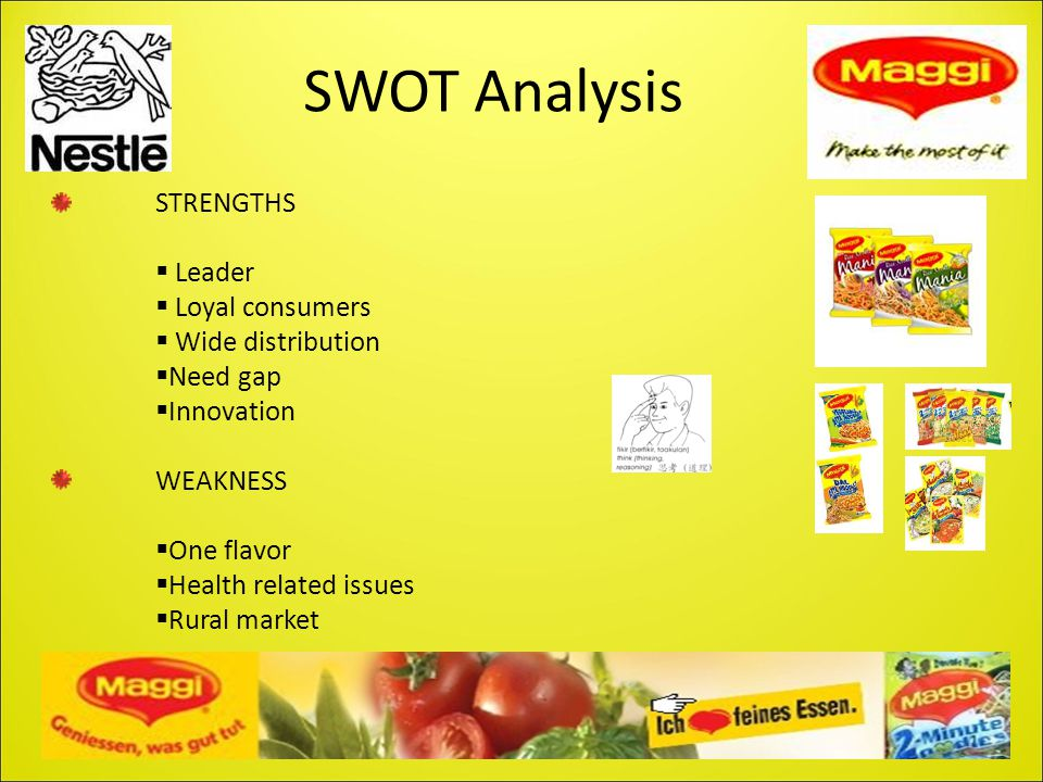 SWOT Analysis STRENGTHS  Leader  Loyal consumers  Wide distribution  Need gap  Innovation WEAKNESS  One flavor  Health related issues  Rural m