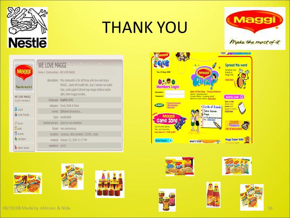 THANK YOU 16Made by Abhinav & Nida08/19/08