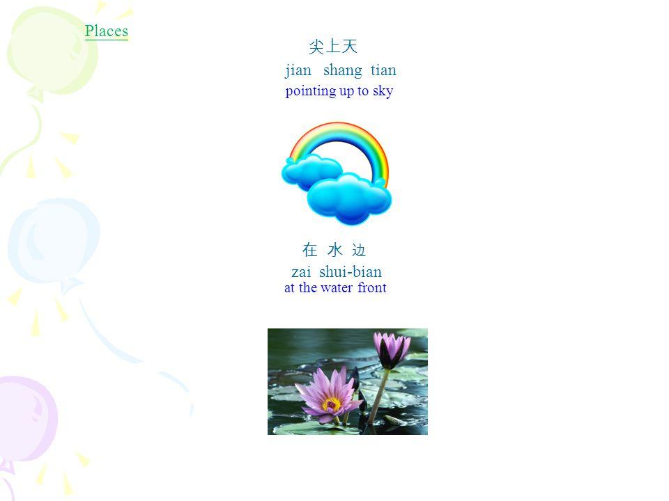 鏡子 Jing4zi (mirror) 圓圓的 yuan yuan de (circular) 燒餅 Shao1bing3 (Chinese pancake) 圓圓的 yuan yuan de (circular) 圓 yuan2 (circle) 圓圓 yuan yuan 圓圓的 yuan yuan de (circular)