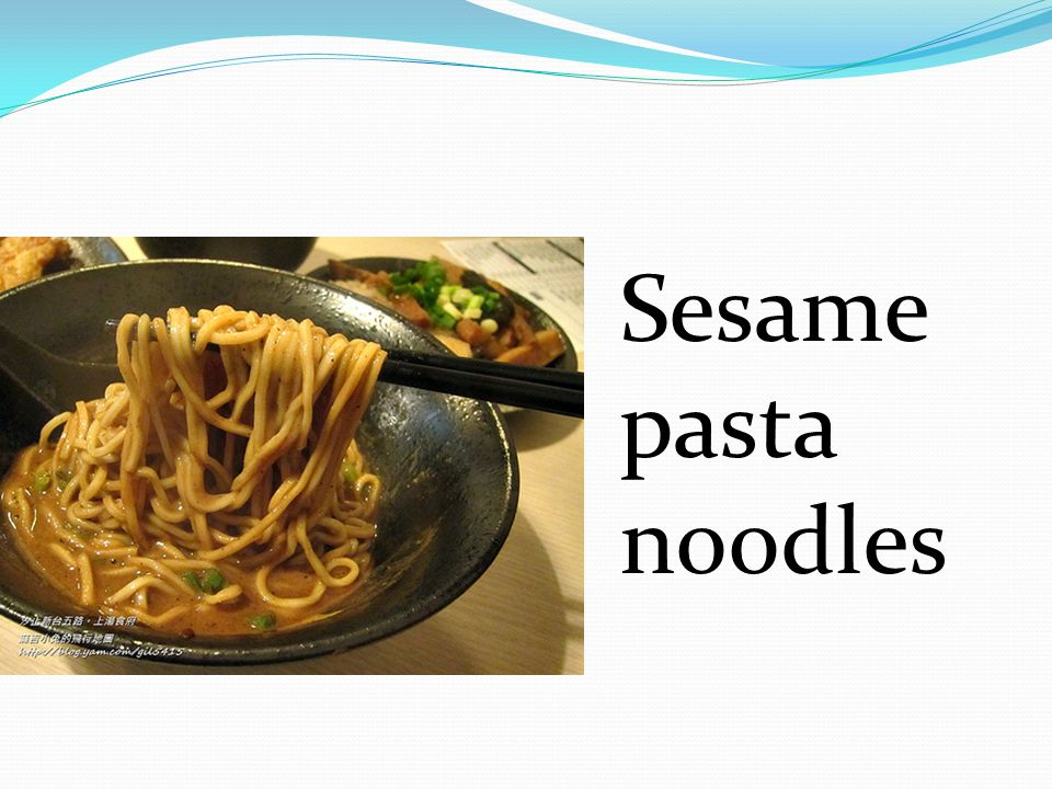 Sesame pasta noodles
