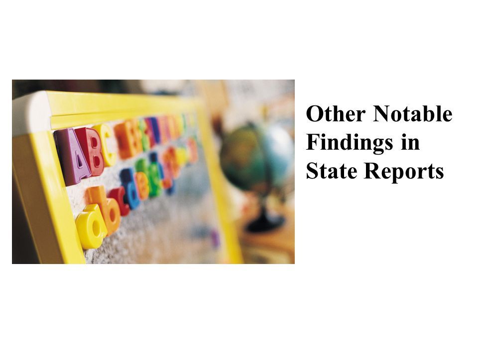 Other Notable Findings in State Reports