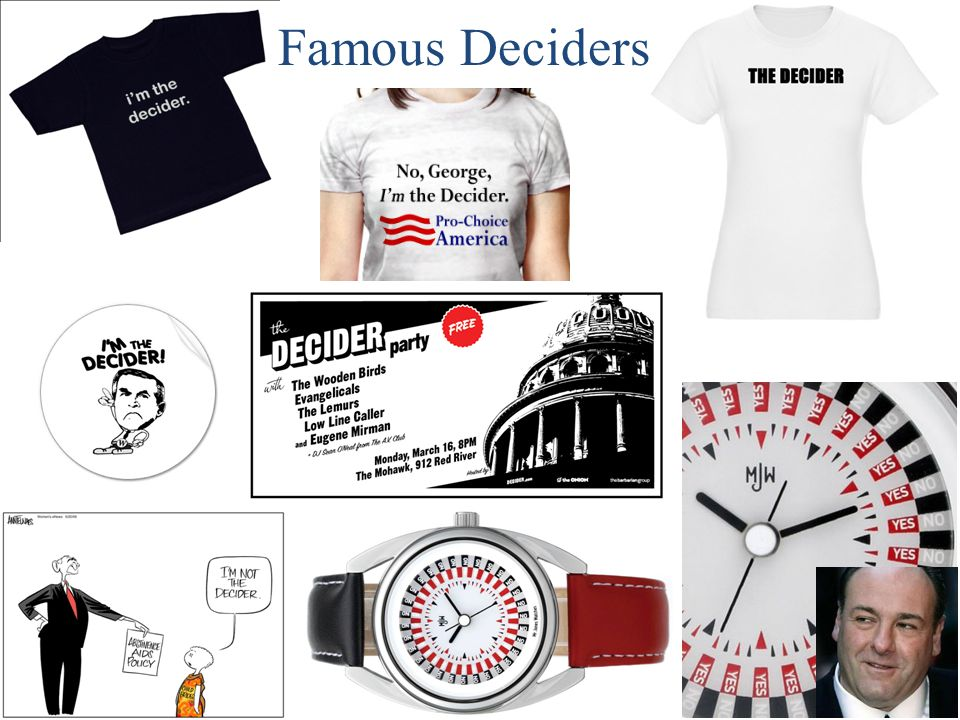 Famous Deciders