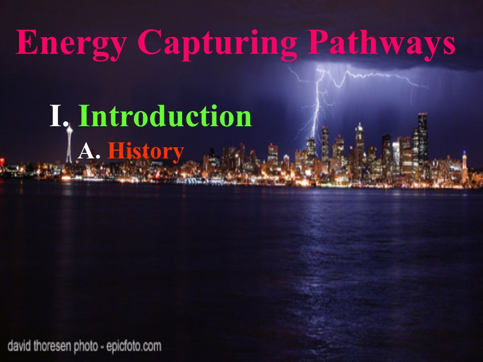 Energy Capturing Pathways I. Introduction A. History