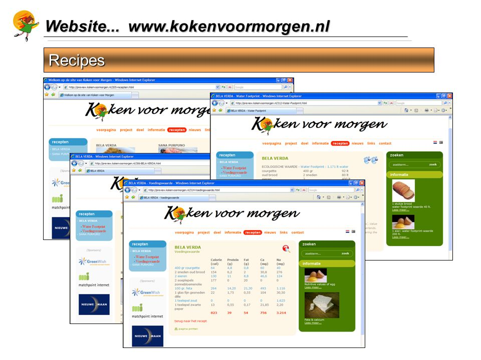 Website... www.kokenvoormorgen.nl Recipes
