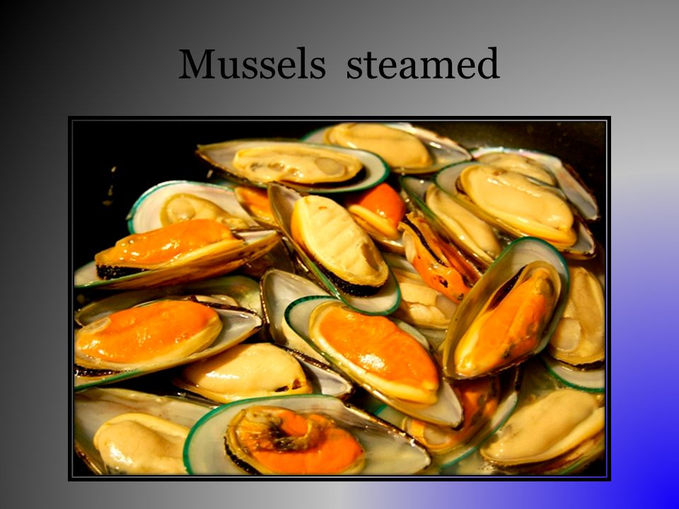 Mussels steamed