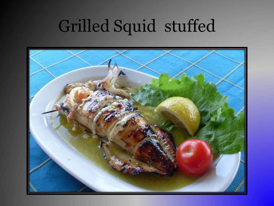 Grilled Squid stuffed
