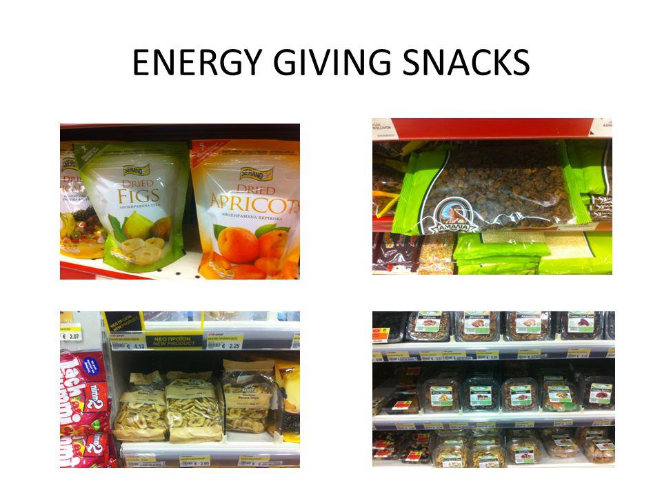 ENERGY GIVING SNACKS