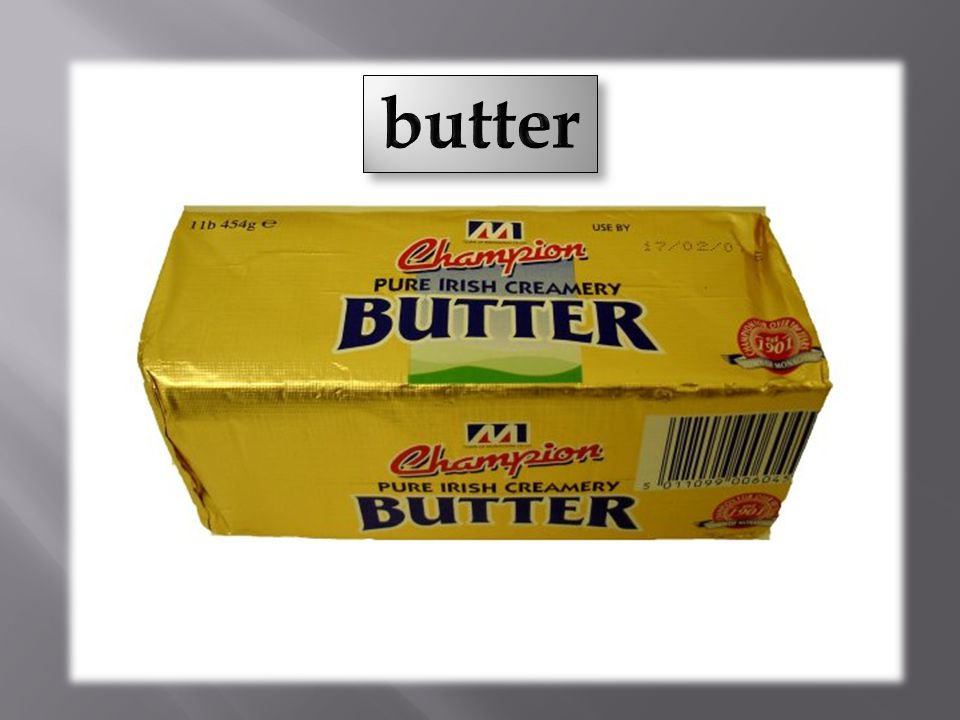 A: How much butter is there on the plate? B: There is some.