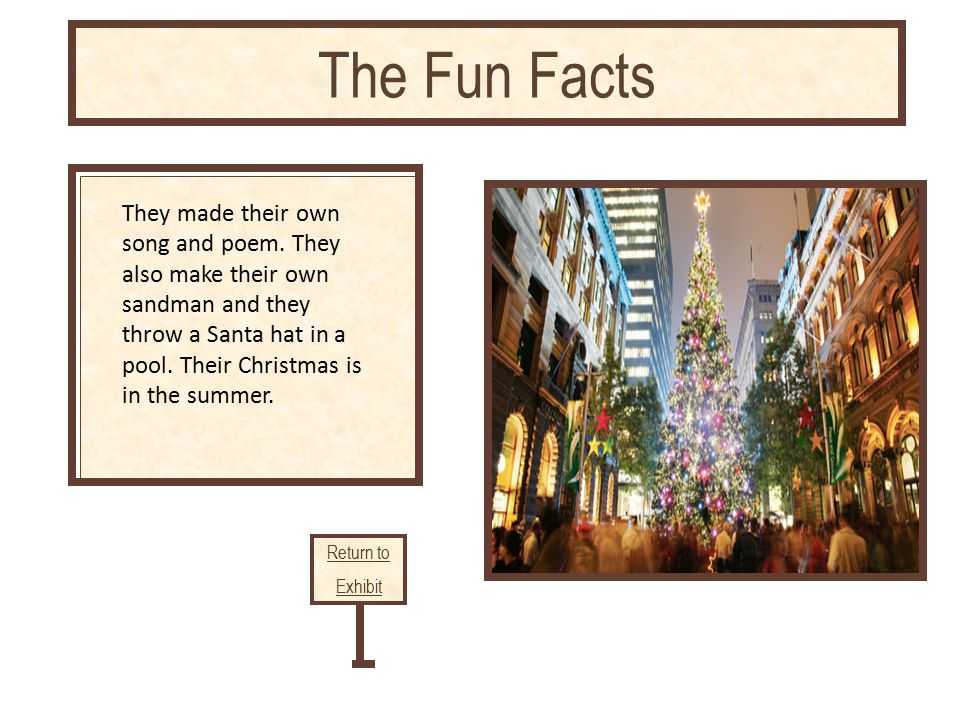 Linked citation goes here Return to Exhibit The Fun Facts They made their own song and poem.