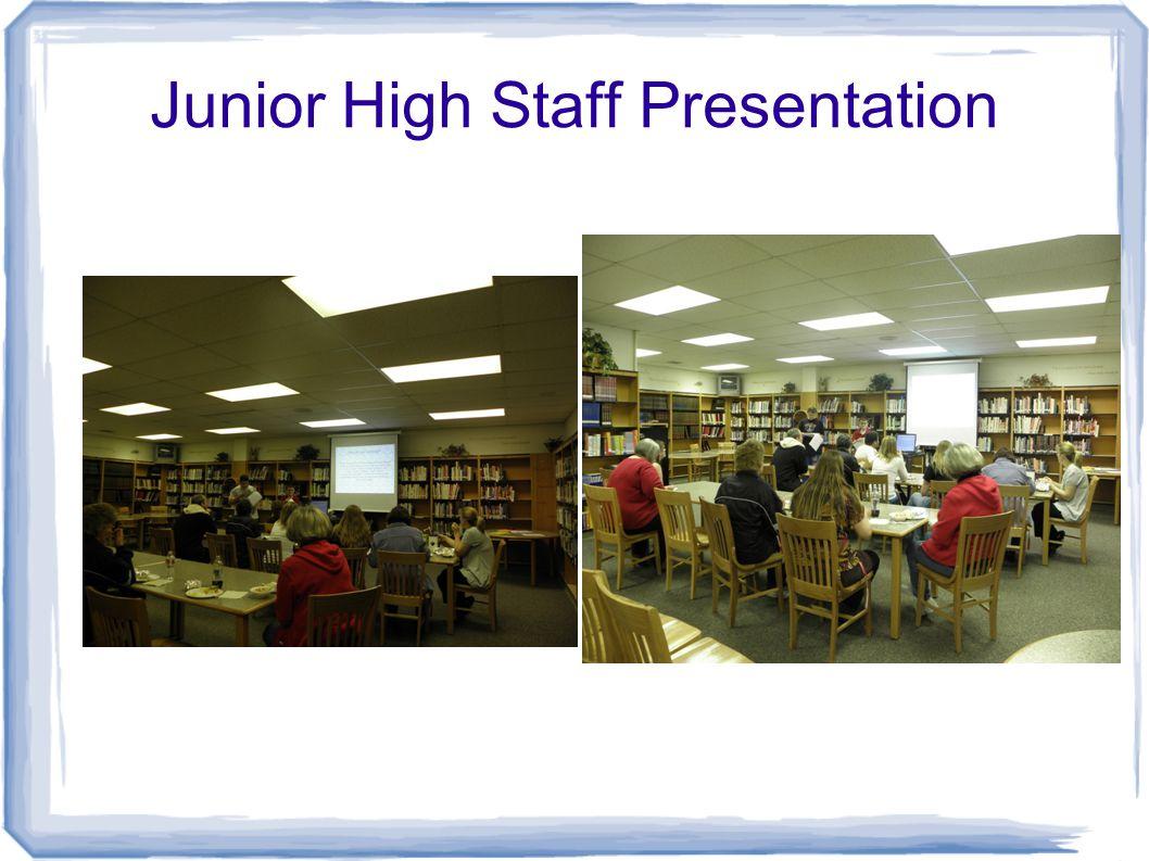 Junior High Staff Presentation