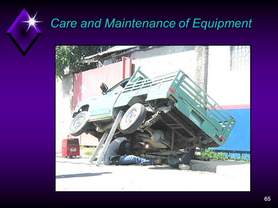 65 Care and Maintenance of Equipment