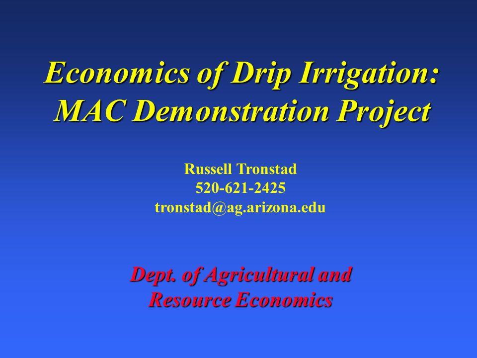 Engineering Efficiency OutputInput Engineering Eff. = Crop Yield Water Applied =
