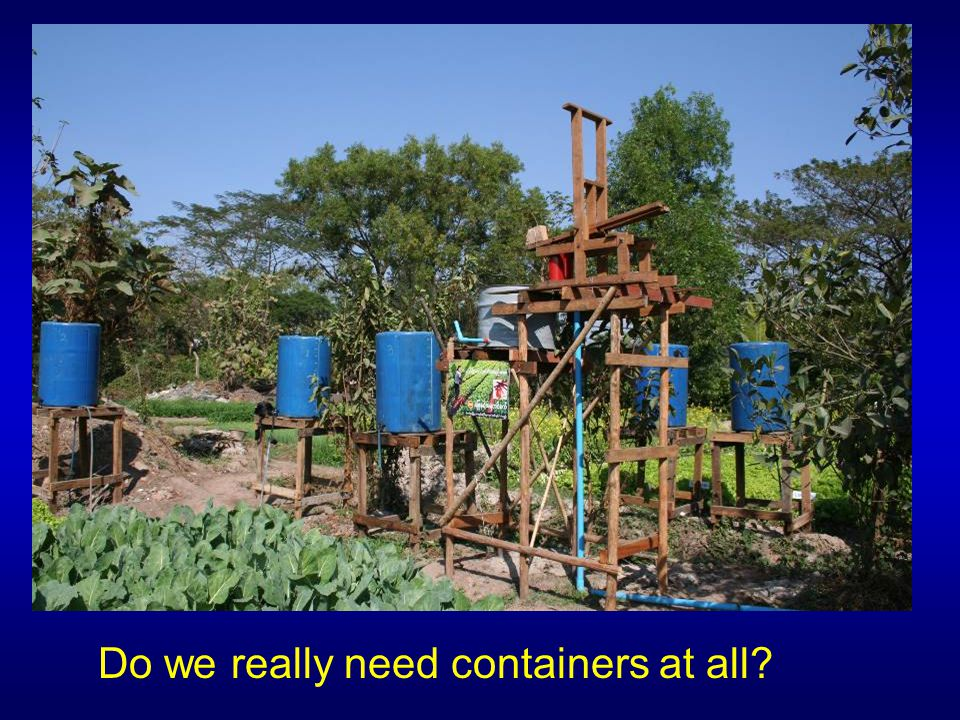 Do we really need containers at all?