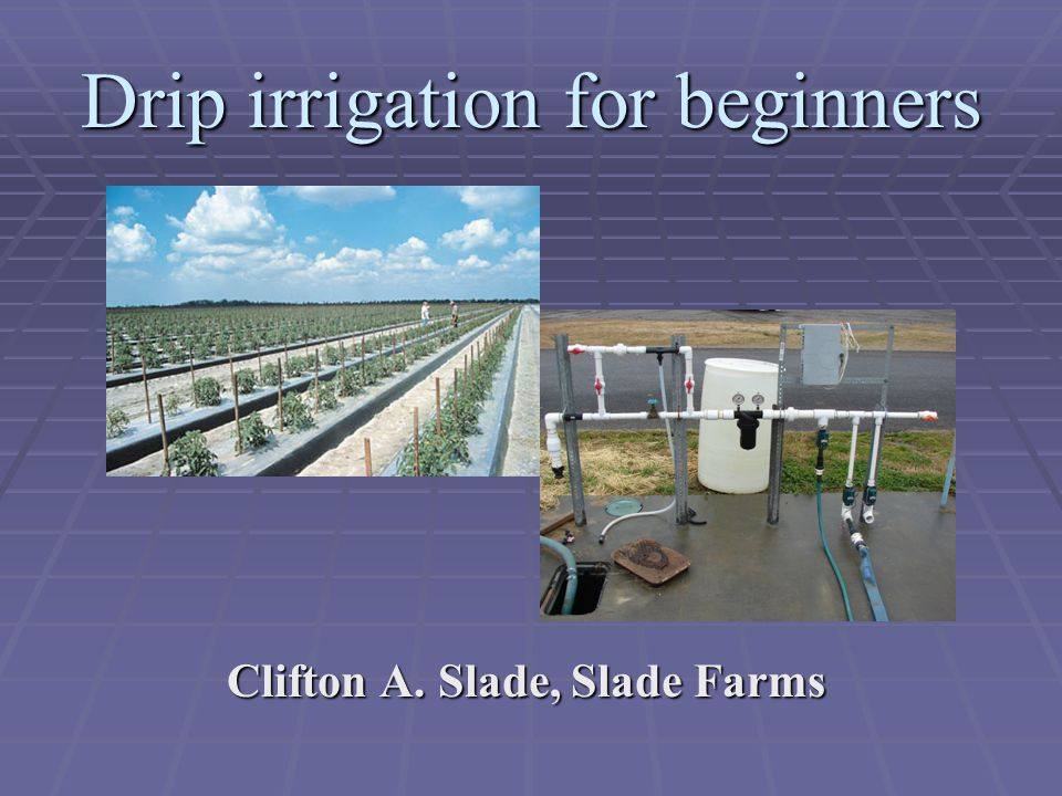 Effective and Efficient Irrigation: Selecting the Right System Clifton A.