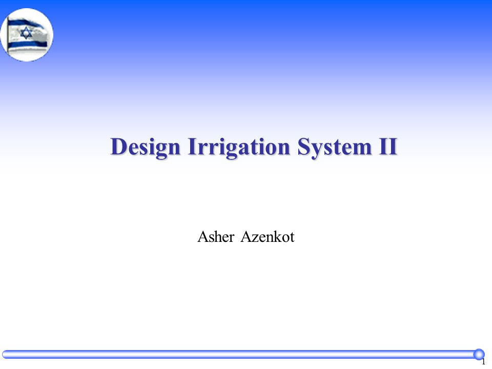 102 Designing of Irrigation System  Considerations: soil, topography, water supply and quality, kind of crops, climate.