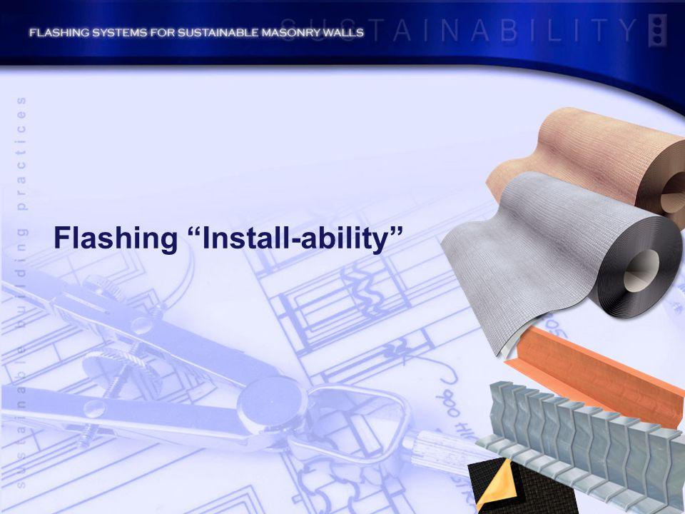 Flashing Install-ability
