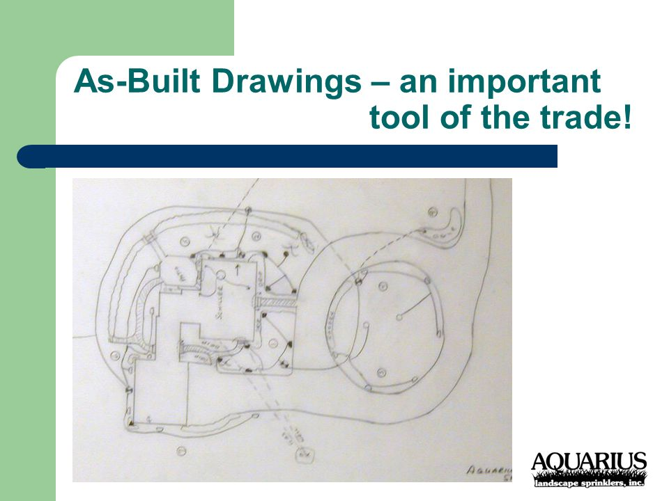 As-Built Drawings – an important tool of the trade!