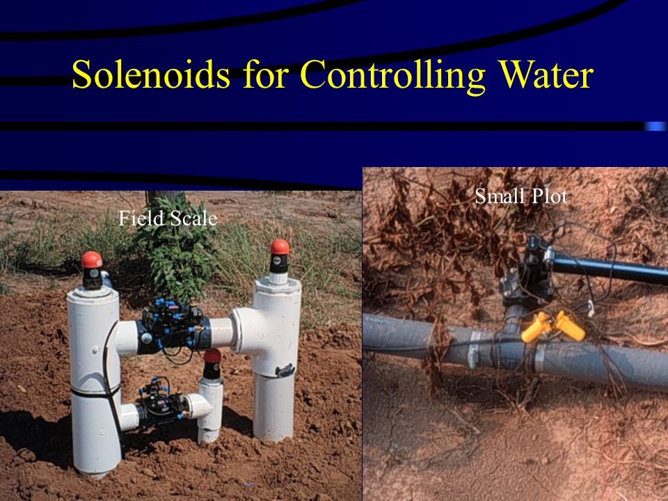 Solenoids for Controlling Water Field Scale Small Plot