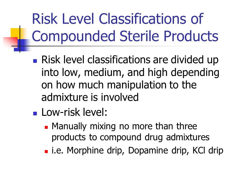 Risk Level Classification, cont.