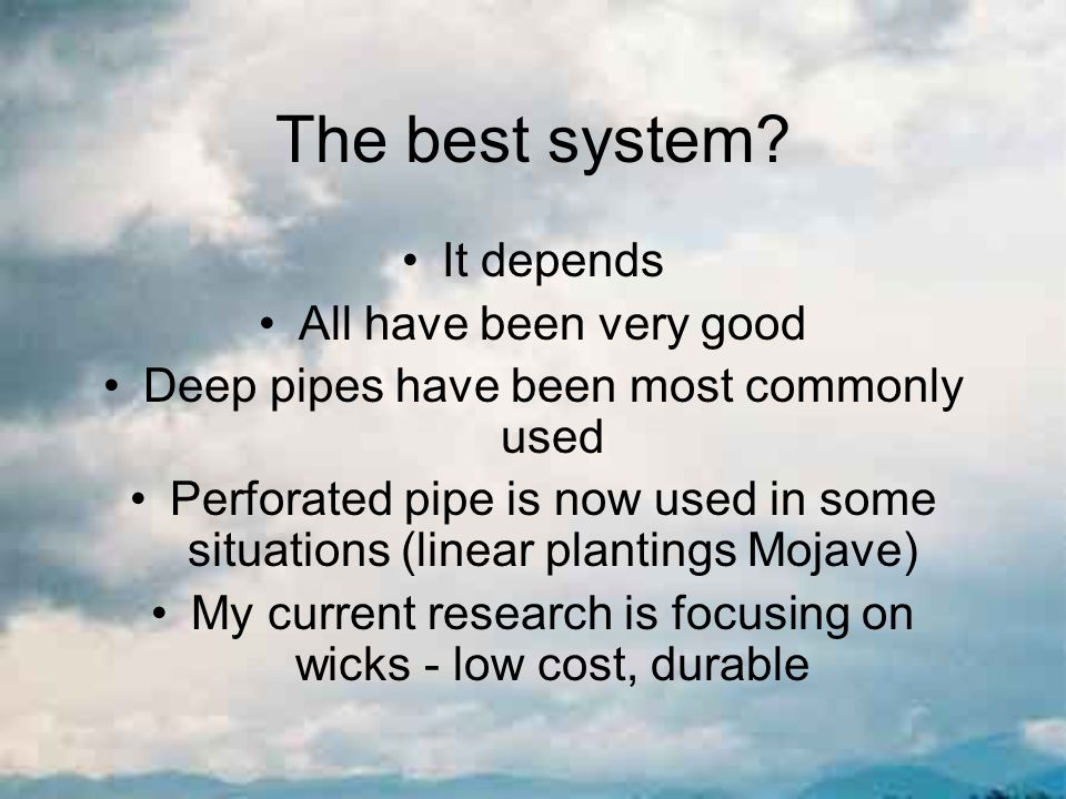 The best system.