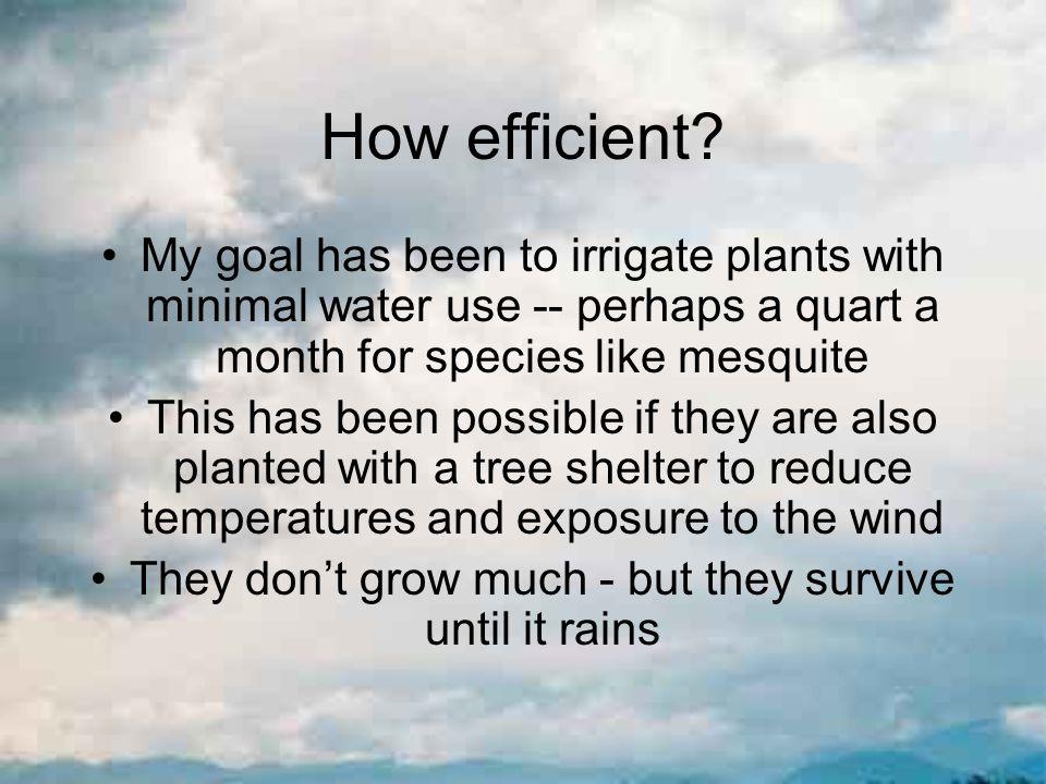 How efficient.