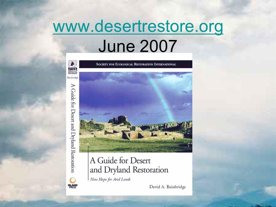 www.desertrestore.org June 2007