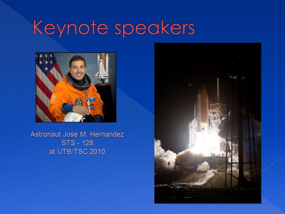 Astronaut Jose M. Hernandez STS - 128 at UTB/TSC 2010