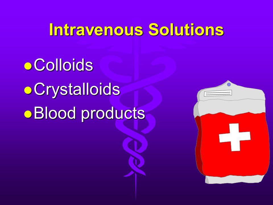 Intravenous Solutions l Colloids l Crystalloids l Blood products