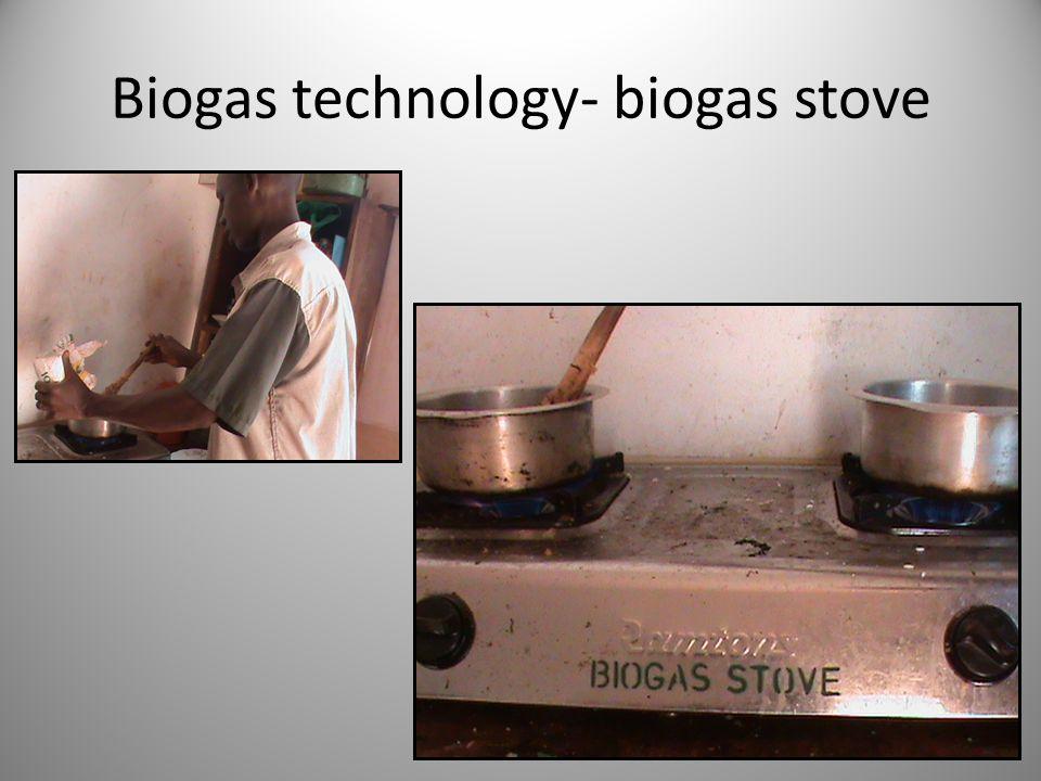 Biogas technology- biogas stove