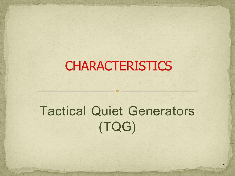 Tactical Quiet Generators (TQG) 4