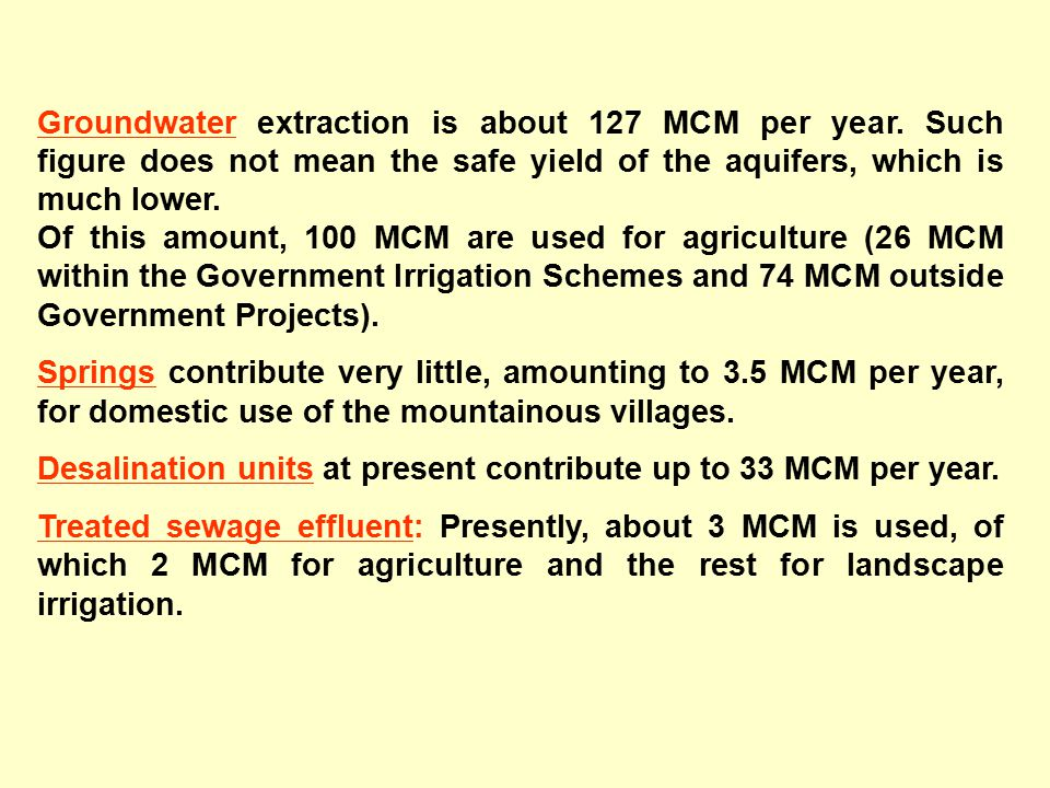 Origin of water 57% of irrigation water is provided from Government Irrigation Schemes.