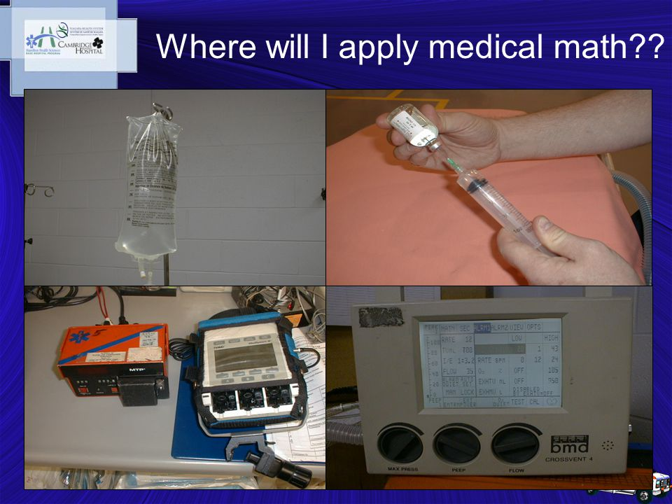 5 Where will I apply medical math??